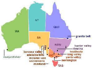 importateur vins d'Austalie