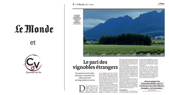Article Le Monde – «Le pari des vins étrangers»
